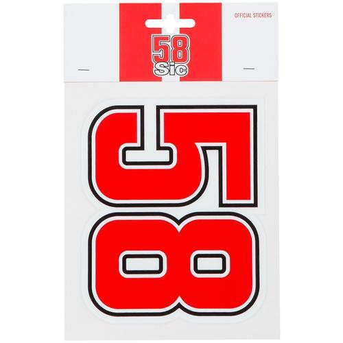 GP-Racing 58 Aufkleber, weiss-rot