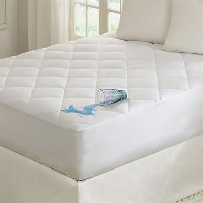 Quiet Nights Waterproof Mattress Pad White, Twin, White