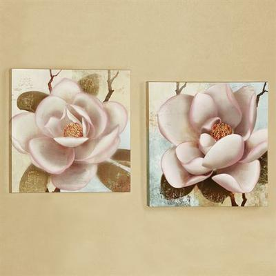 Blooming Magnolias Canvas Wall Art Multi Cool Set of Two, Set of Two, Multi Cool