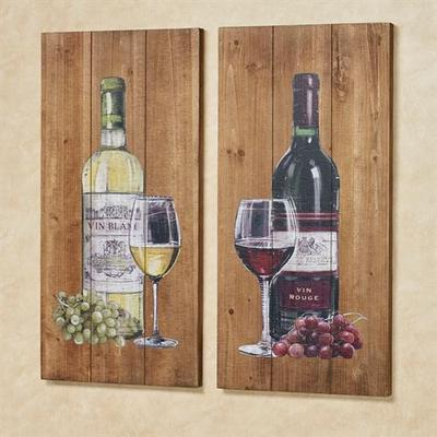 Aged to Perfection Wine Wall Art Brown Set of Two, Set of Two, Brown