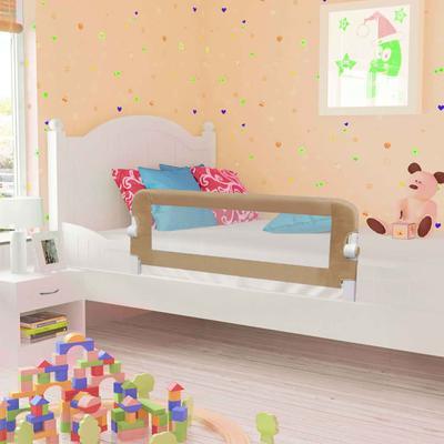 vidaXL Barrière de lit enfant Taupe 102x42 cm Polyester