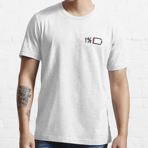 1% Akkulaufzeit Essential T-Shirt