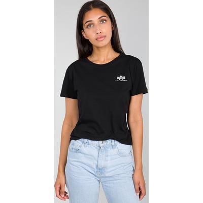 Alpha Industries Basic Small Logo T-shirt Dames, noir, taille XS pour Femmes
