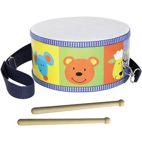 Clifton Spielzeug-Musikinstrument Kindertrommel mit Motiv, Kinderlieder CD bunt Musikspielzeug Musikinstrumente
