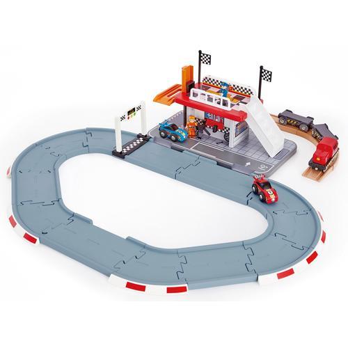 Hape Spielzeug-Eisenbahn Rennstrecken-Station bunt Kinder Ab 3-5 Jahren Altersempfehlung