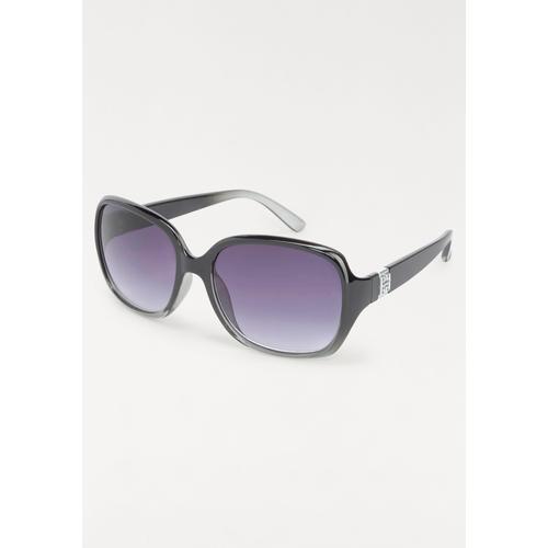 J.Jayz Sonnenbrille, Oversize schwarz Damen Runde Sonnenbrille Sonnenbrillen Accessoires