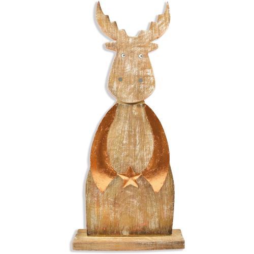 Tierfigur Hirsch, Höhe ca. 62 cm braun Tierfiguren Figuren Skulpturen Wohnaccessoires