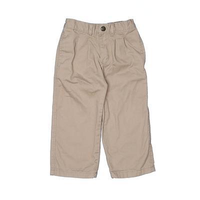 Mountain Khakis Kids Khakis: Tan Solid Bottoms - Size 2Toddler