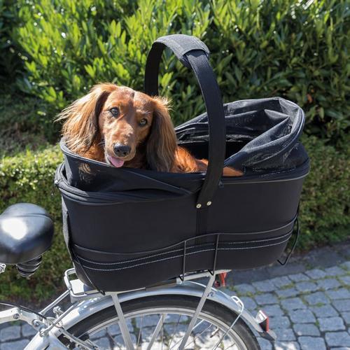 TRIXIE Fahrradkorb für Haustiere Hinten 29×49×60 cm Schwarz