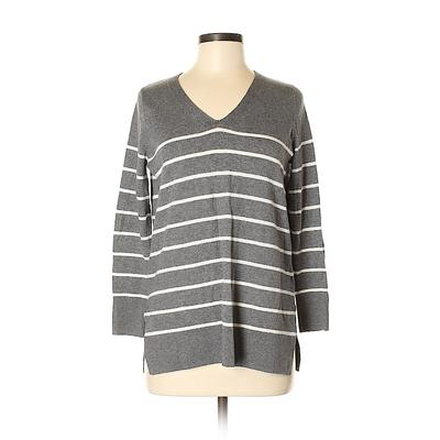 Old Navy Pullover Sweater: Gray Print Tops - Size Small
