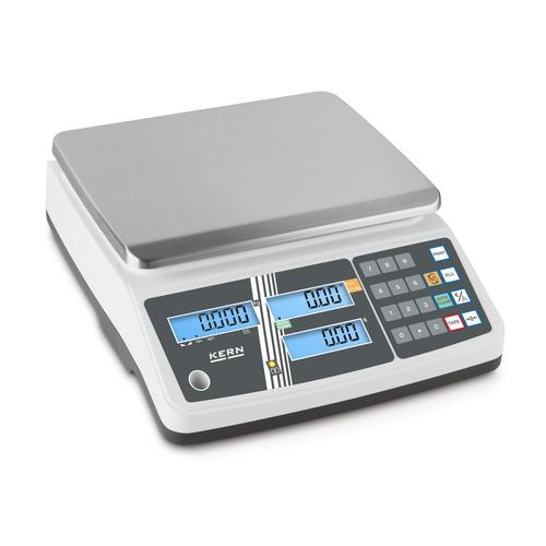KERN Preisrechenwaage - 6 kg / 2 g - weiß - LCD KERN Preisrechenwaage RPB 6K1DM