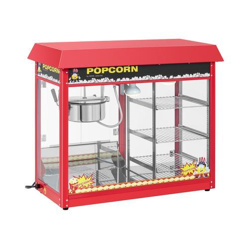 Royal Catering Popcornmaschine mit beheizter Auslage - rot RCPC-16E