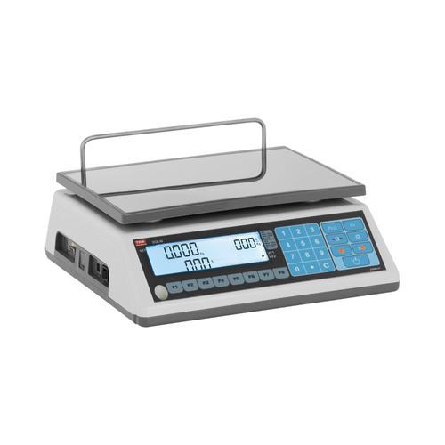 TEM Preisrechenwaage - geeicht - 15 kg/5 g - 30 kg/10 g TEM030D-B1