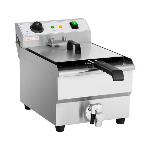 Royal Catering Elektro-Fritteuse - 13 Liter - 3.200 W - Ablasshahn - Kaltzone RCEF-13EHB