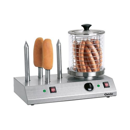 Bartscher Hotdog-/Würstchen Gerät mit 4 Spezial-Toaststangen A120408