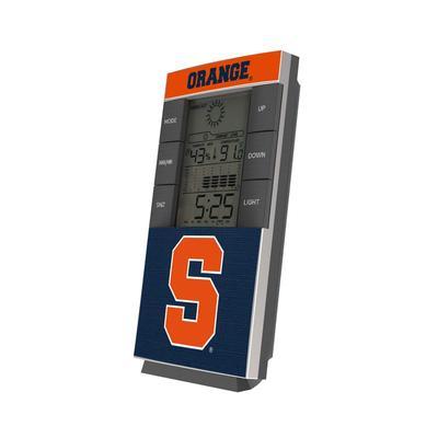 Syracuse Orange End Zone Digital Desk Clock