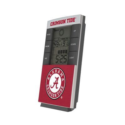 Alabama Crimson Tide End Zone Digital Desk Clock