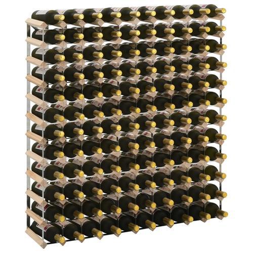 vidaXL Weinregal für 120 Flaschen Massivholz Kiefer