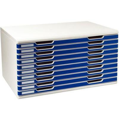 module a3 10 tiroirs bleu