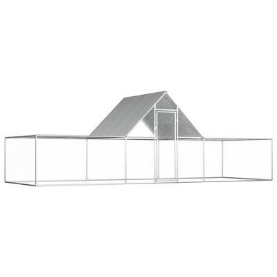 vidaXL Poulailler 6 x 2 x 2 m Acier galvanisé