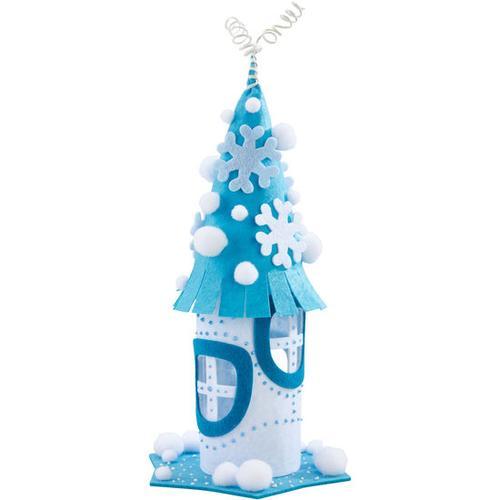 JAKO-O Filz-Wichtelhaus Winter, blau