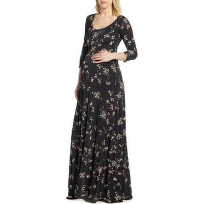 Samantha Maternity Maxi Dress - Black - TIFFANY ROSE Dresses