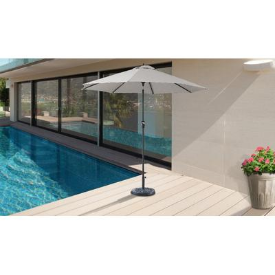 9' Outdoor Market Umbrella for kathy ireland Homes & Gardens in Truffle - TK Classics UMBRELLA-9x8MKT-KI-TRUFFLE