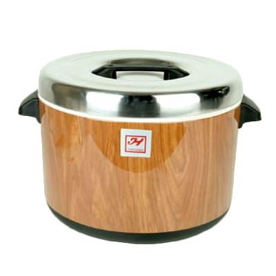 Thunder Group SEJ71000 40 cup Sushi Rice Container - Stainless Steel Liner, Woodgrain Exterior