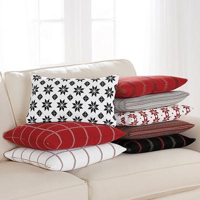 "Scandi Holiday Pillow Covers Tartan Black 20"" x 20"" - Ballard Designs"