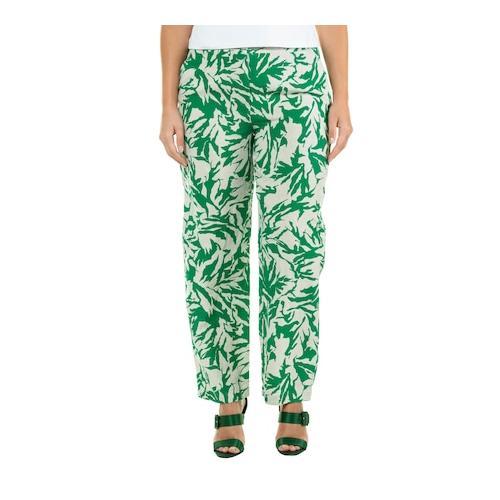Große Größen Leinen-Hose - Große Größen Damen (Größe 46, grün) | Ulla Popken Leinenhosen | Leinen, Leinen-Hose