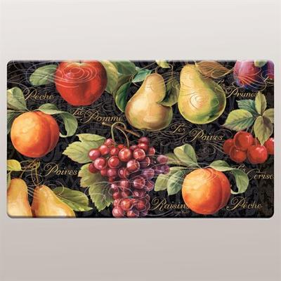 Fruits du Marche Cushioned Floor Mat Multi Warm 30 x 20, 30 x 20, Multi Warm