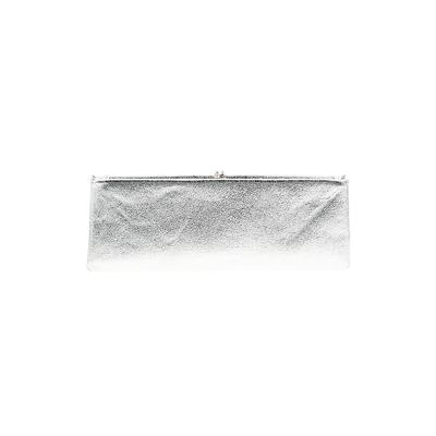 Clutch: Silver Solid Bags