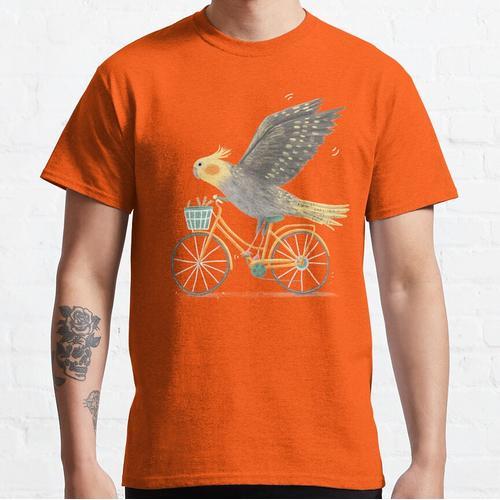 Nymphensittich auf einem Fahrrad Classic T-Shirt