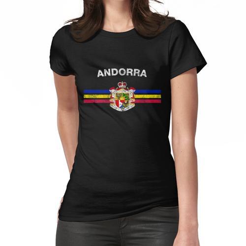 Andorran Flagge Shirt - Andorran Emblem & Andorra Flagge Shirt Frauen T-Shirt