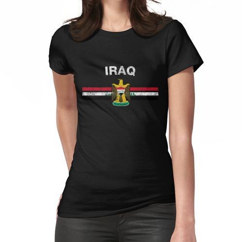 Irakisches Flaggen-Hemd - irakisches Emblem u. Das Irak-Flaggen-Hemd Frauen T-Shirt