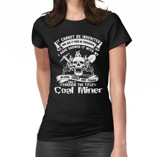Bergarbeiter Kohle Bergmann Kohle Bergarbeiter Frau Kohle Bergmann Weihnachten Retro Frauen T-Shirt