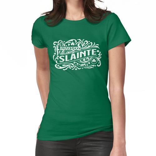 Slainte Irish Gaelic Vintage verwitterte Whisky Label Design Frauen T-Shirt
