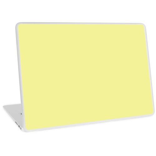Pastellgelb / Pastellgelb Einfarbig Laptop Skin