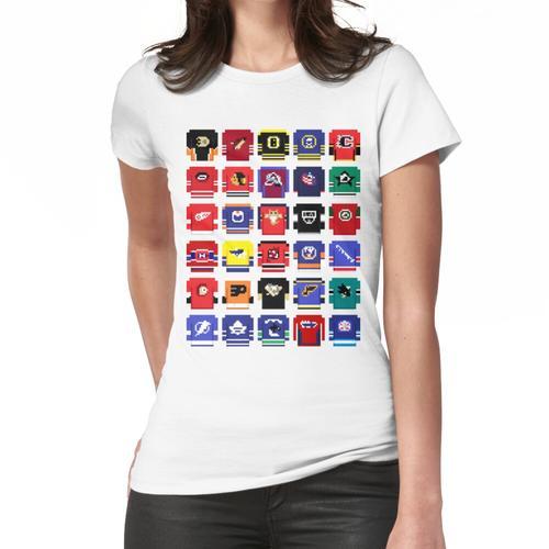 8-Bit Hockey Trikots 2 Frauen T-Shirt