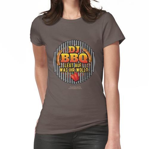 Grill T Shirt lustiger Spruch DJ BBQ Frauen T-Shirt