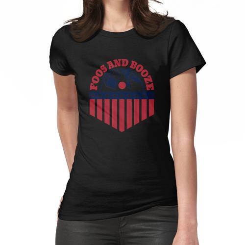 USA Foos und Schnaps lustiger Trinkwitz Frauen T-Shirt