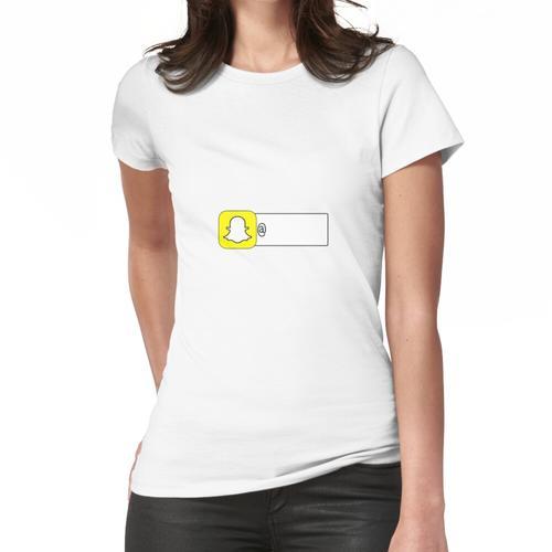 Füge mich auf Snapchat Sticker hinzu Frauen T-Shirt
