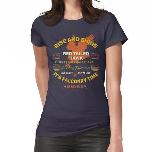 Es ist Falknerei Zeit! Red Tail Hawk II für Falkner Frauen T-Shirt