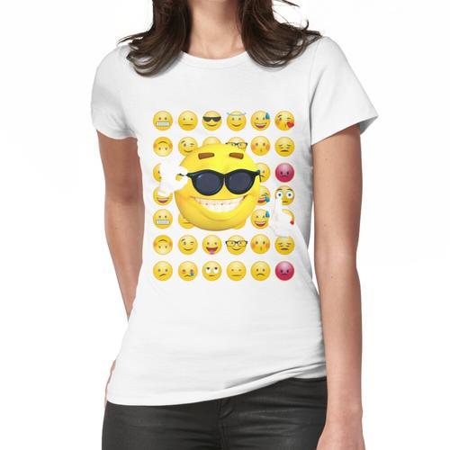 Emoji Sonnenbrille, Emoji lustig, Emoji Sonnenbrille und Sonne Frauen T-Shirt
