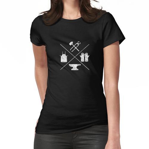 Schmiedewerkzeuge Schmiede Schmiede Schmiede T-Shirt Frauen T-Shirt