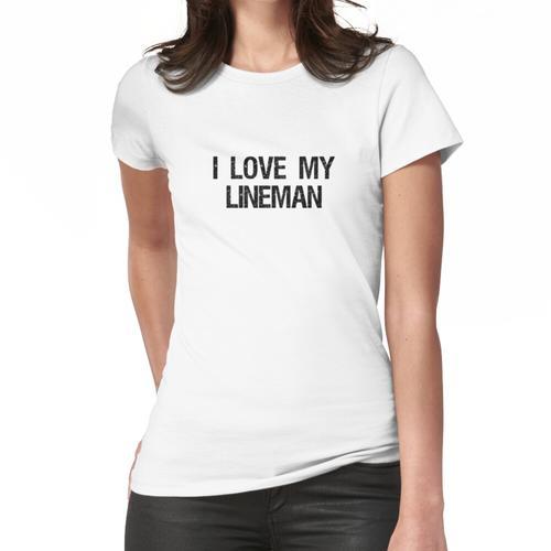 Ich liebe meine Lineman Frau von Lineman Design Frauen T-Shirt