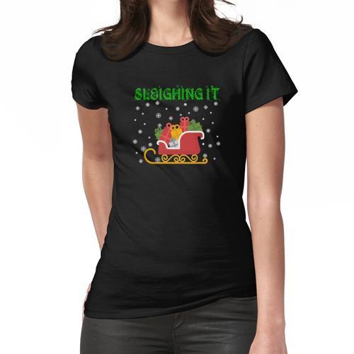 Weihnachten, es schlitten Frauen T-Shirt
