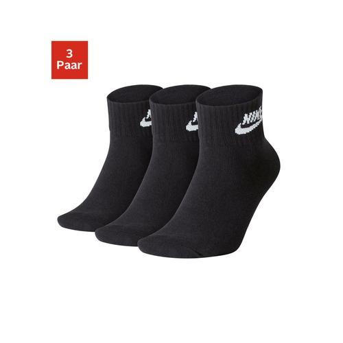 Nike Tennissocken, (3 Paar), in Kurzform schwarz Damen Sportsocken Socken Damenwäsche Tennissocken