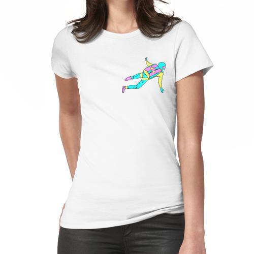 80er Jahre Shell-Anzug mit Fallschirmspringer Frauen T-Shirt