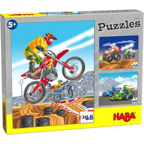 HABA Puzzles Motorsport, bunt